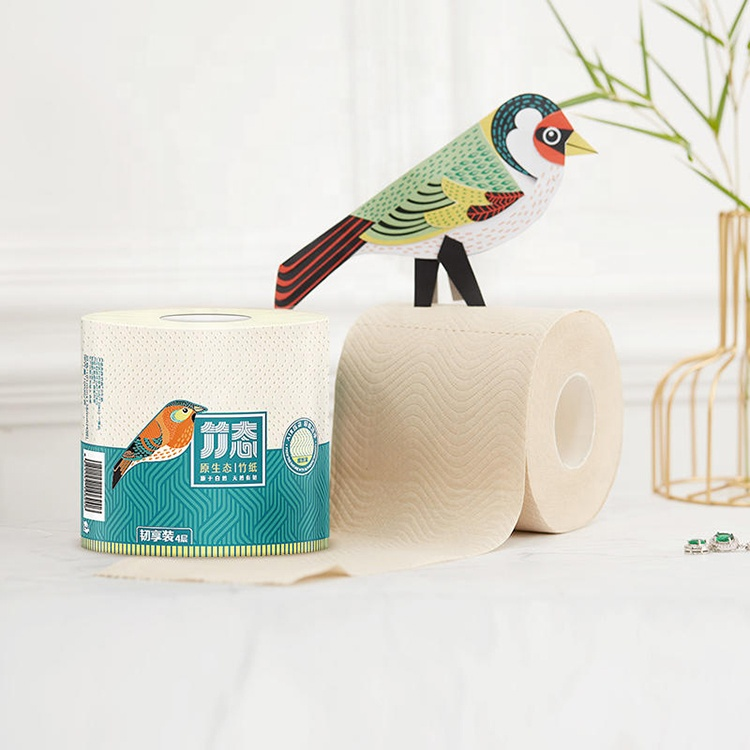 003washing:High Quality White Soft Toliet Paper Household Eco-friendly Bamboo Bath Toilet Tissue