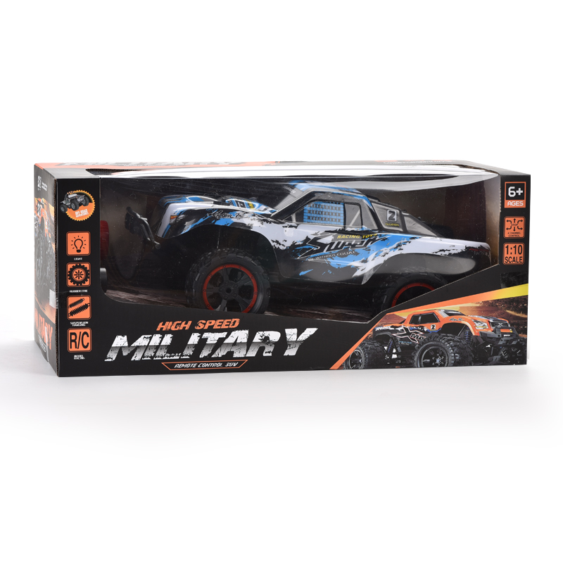 403toys Hot sale RC military toys 1:10 four-way high-speed off-road vehicle with colorful lights